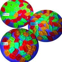100 шт/упак гвоздь флуоресцентный Стразы 3d красочные flatblack