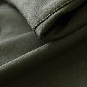 Image 4 - Mege peau de requin coquille souple militaire veste tactique hommes imperméable armée polaire vêtements Multicam Camouflage coupe vent 4XL
