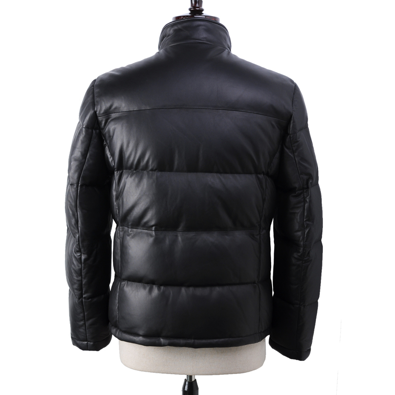 Geniune Leather Jacket Men Sheepskin Leather Goose Down Jacket Winter Warm Thick Coat Piumino Uomo13-H16# MF378
