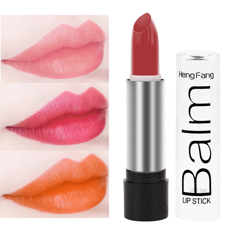 Heng Fang 12 Color Smooth Moisturizer Rouge Lipstick Long Lasting  Lip Batom Beauty Pink Red Nudes Glitter Lip Stick Makeup Lips