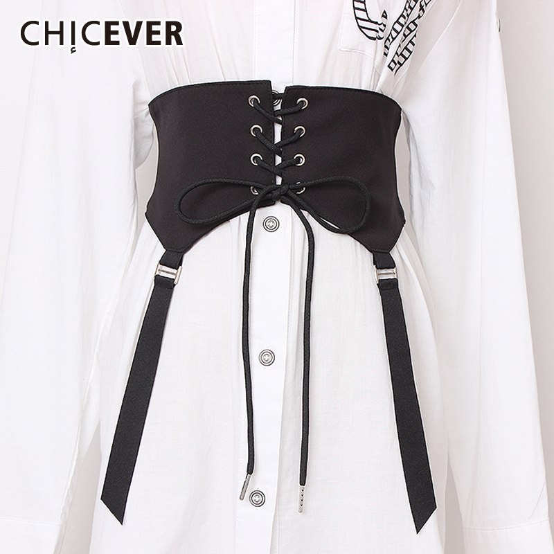 CHICEVER Korean Bandage Bow Slim Belt For Women 2019 Summer Vintage Dresses Accessories Black Wide Belts Female Fashion New
