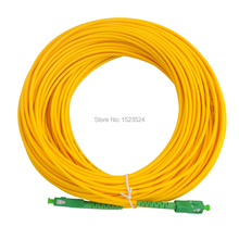 Frete grátis sm sx pvc 3mm 3m 5m 10m 15 20m 25m 30m sc/apc cabo de ligação em ponte de fibra óptica sc/APC SC/apc cabo de remendo de fibra óptica