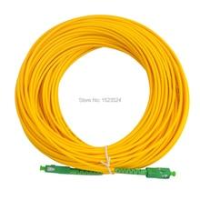 משלוח חינם SM SX PVC 3mm 3m 5m 10m 15m 20m 25m 30m SC/APC סיבים אופטיים מגשר כבל SC/APC SC/APC סיבים אופטי תיקון
