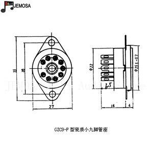 Image 5 - 10PCS 세라믹 9pin 섀시 마운트 진공 튜브 소켓 12AX7 12AT7 12AU7 ECC83 EL84 6922 빈티지 Hifi 튜브 앰프 DIY