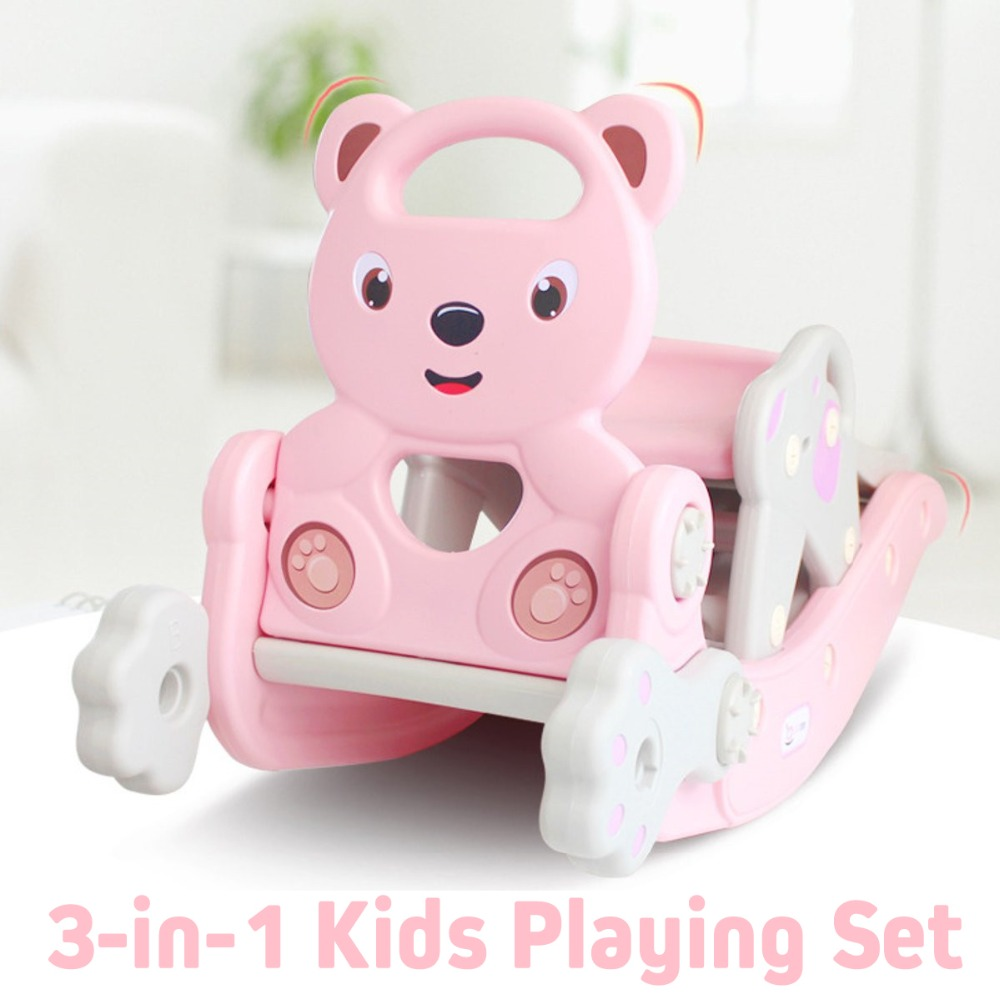 Hab31e2e17f4d4a1eb5b6587287a88d02e IMBABY 3 in 1 Baby Rocking Horse Slide Basketball Box Children's Kids Toys Indoor Outdoor Kindergarten Safety Game Exercise Toys