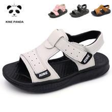 KINE PANDA Boys Sandals Girls Kids Shoes Summer Toddler Baby Boy Girl Genuine Leather Children Sandals 1 2 3 4 5 6 Years Old