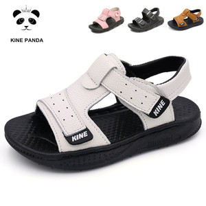 Image 1 - KINE PANDA Boys Sandals Girls Kids Shoes Summer Toddler Baby Boy Girl Genuine Leather Children Sandals 1 2 3 4 5 6 Years Old