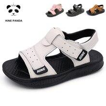 KINE PANDAเด็กชายรองเท้าแตะเด็กรองเท้าฤดูร้อนเด็กวัยหัดเดินเด็กทารกสาวของแท้หนังเด็กรองเท้าแตะ1 2 3 4 5 6ปี