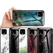 Marble Tempered Glass Phone Case for Google Pixel 2 3 3a 4 XL Slim Shell Glossy Full Protective Hard Bumper Back Cover(China)