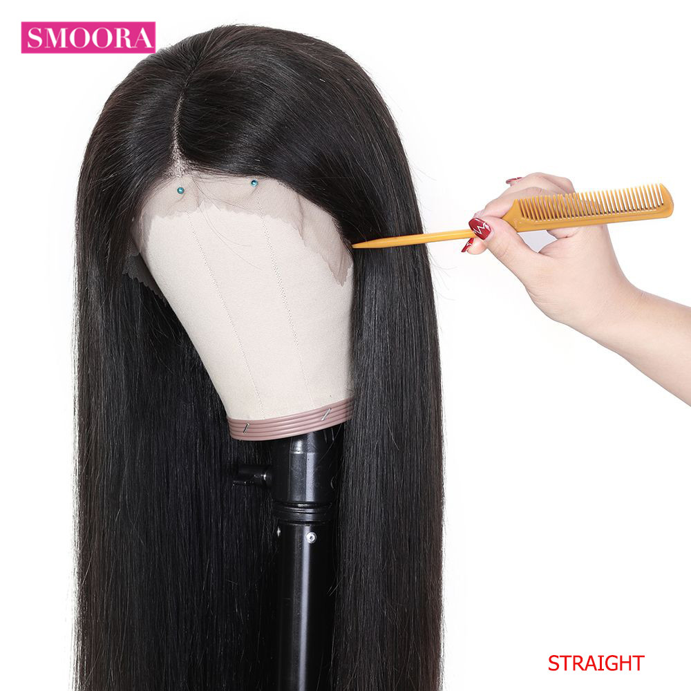 Straight Lace Part  Wigs 13x1 Lace Front Hair Wigs with Baby Hair Pre Plucked  Hair 150% Density 5