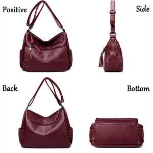 Image 3 - 2019 高級糸ハンドバッグ女性バッグデザイナーソフト女性のクロスボディメッセンジャーバッグ女性ヴィンテージショルダーバッグ