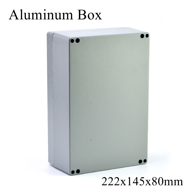 FA6 1 222x145x80mm IP65 Waterproof Aluminum Junction Box Electronic Terminal Sealed Diecast Metal Enclosure Case Connector|Connectors| |  - title=