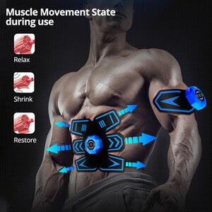 Image 3 - Stimulateur musculaire électrique sans fil abs, entraîneur EMS, myostimulateur corporel Fitness, perte de poids, massage amincissant