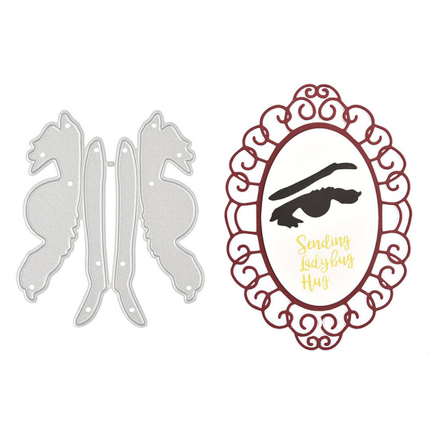 YaMinSanNiO Anger Eyes Metal Cutting Dies Eyebrow for Scrapbooking Stencils DIY Cards Decoration Embossing Die Cuts Template New