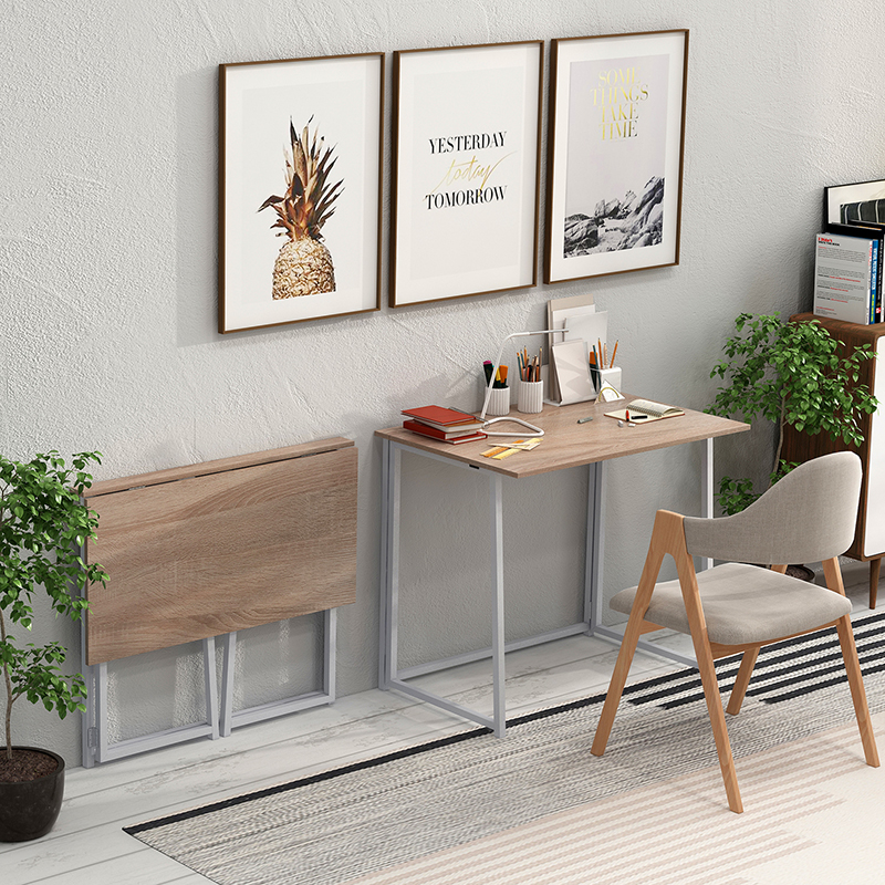 Folding Desk No Assembly Small Computer Desk Home Office Desk Foldable Table Study Writing Desk For Small Space Offices Laptop Desks Aliexpress
