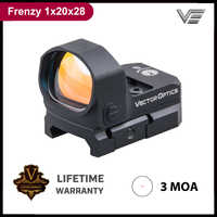 Vector Optics Frenzy 1x20x28 Big Window Size Tactical Red Dot Sight 3 MOA IPX6 Water Proof fit for Pistol 9mm Glock AR .223 .308