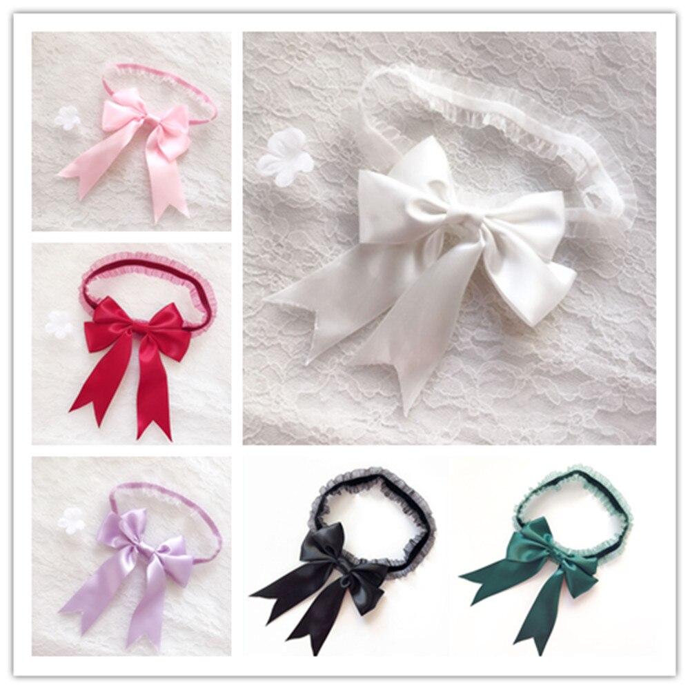 Women Bridal Solid Color Lace Elastic Thigh Rings Big Ribbon Bowknot Wedding Dress Leg Garter Cosplay Underwear Arm Bracelet