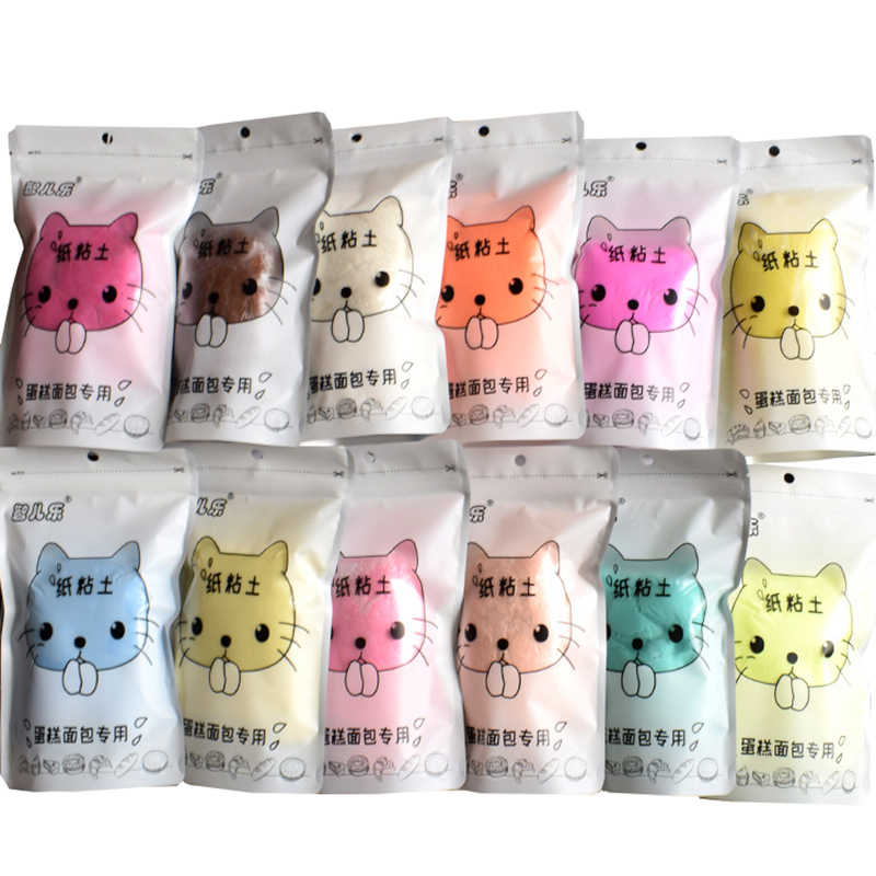 100g/bag Cartoon Cat Paper Polymer Clay Plasticine Slime Modeling Clay Art Model Light Clay Educational Toys for children Gift
