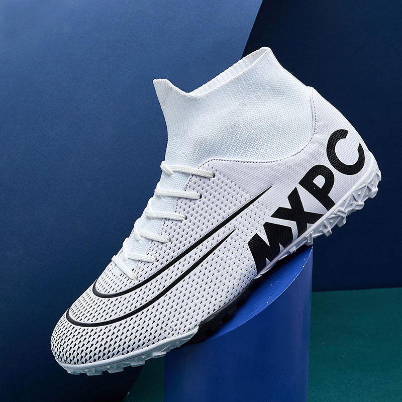 MWY Soccer Shoes For Men Football Boots Kids High Ankle Soccer Cleats Waterproof Sport Sneakers Futsal Shoes Zapatillas Hombre