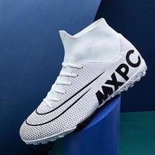 Zapatos de fútbol MWY para hombres, botas de fútbol para niños, botines de fútbol de tobillo alto, Zapatillas deportivas impermeables, Zapatillas de fútbol para Hombre