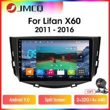Jmcq T9 Rds Dsp Autoradio Voor Lifan X60 2011-2016 Multimidia Video 2din Android 9.0 4G + 64G Gps Navigaion Split Screen Met Frame