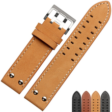 Military Nubuck Leather Watchband for Hamilton Breitling Samsung Watch Strap