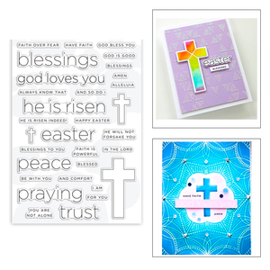 2020 New Hot Christian Jesus Cross Stamps and Sentiment Word God Loves You Metal Cutting Dies Scrapbooking Foil For Card Making(China)