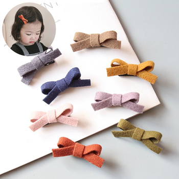 2/4 Pcs Colorful Kids Baby Hair Clips Cute Bows Children Girl Hair Clip Hairpin Haarspeldjes Barrettes Baby Hair Accessories