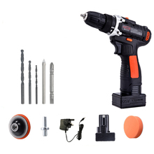 25V Car Polisher Cordless Drill Kit 1350rpm Variable Speed Polishing Machine Waxer Power Screwdriver with Light Rechargeable