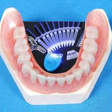 10 шт/компл зубы отбеливающий гель комплект синий холодной светильник