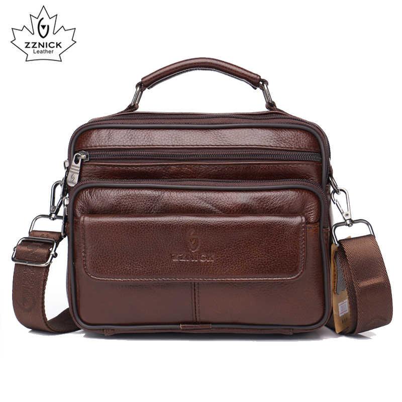 Zzنيك 2020 جلود الأبقار الأصلية حقيبة كتف حقيبة ساع صغيرة الرجال السفر موضة جديدة الرجال حقيبة رفرف حقيبة كروسبودي حقائب اليد