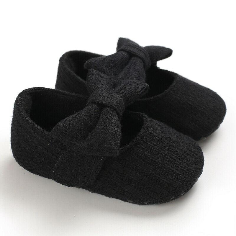 Lovely Newborn Baby Infant Girl Crib Shoes Soft Sole Prewalkers Anti-slip Sneakers Pram Shoes Black Gray Pink White