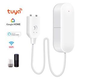 Image 1 - WIFI sygnalizator przecieku wody inteligentne mobilne czujki alarmy czujnik alarmowy poziomu wody wyciek Home Securit kontrola aplikacji bezpieczeństwo w domu