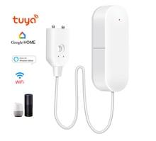 Wi fi alarme de vazamento de água inteligente detector móvel alertas sensor de nível de água alarme vazamento casa securit controle app segurança em casa