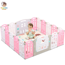 Children's Foldable Playpen with Crawling Mat Indoor Home Safety Fence For Newborn Baby Pool Balls Kids Safety Barrier F07