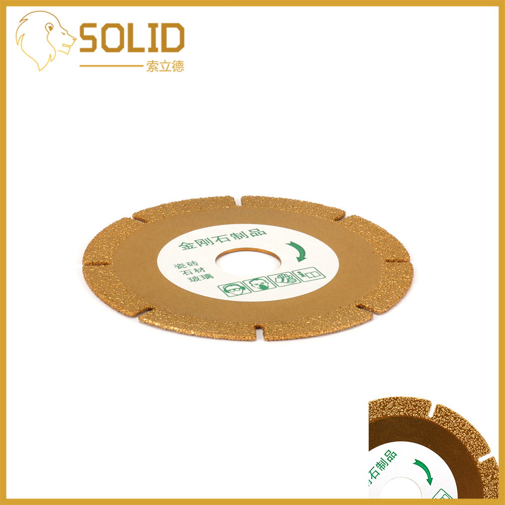 100mm 4'' Diamond Saw Blade Grinding Disc Cutting Wheel For Stone Ceramic Slate Granite Grit 60 Gold