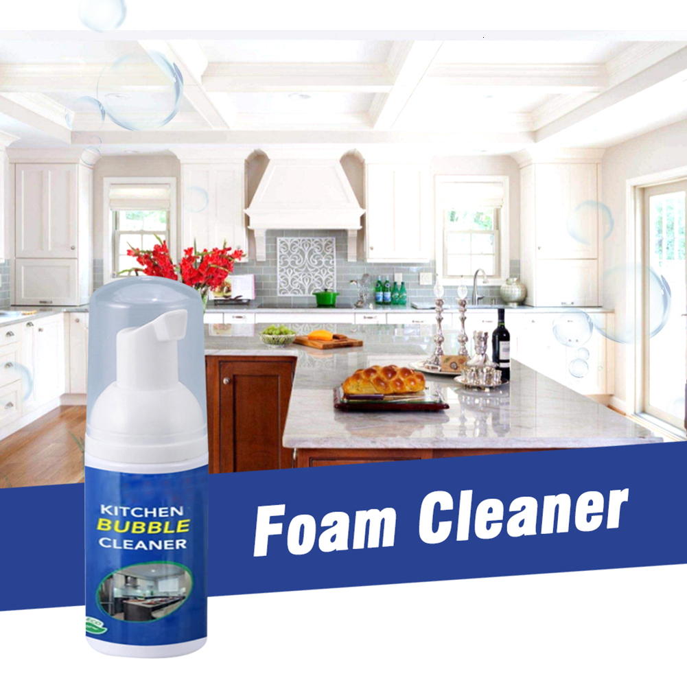 1pc 30ml Foam Cleaner All Purpose Bubble All-Purpose Cleaning Spray Multifunctional Kitchen Grease Home Tool