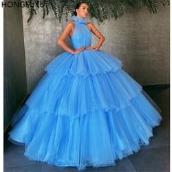 Vestidos de 15 años HONGFUYU Bola Vestidos Quinceanera Vestidos Plissados Tulle бальное платье Formal Do Partido Vestido de Princesa vestido de Baile