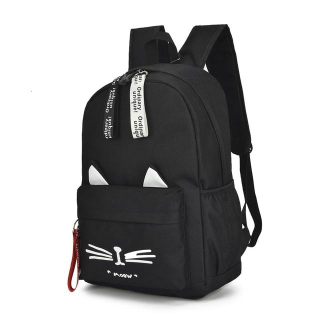 New Kids Backpack Girls Boy Children Teenagers Student School Backpacks For Girl Cute Cat Ear Backpack Schoolbag Cartable Enfant