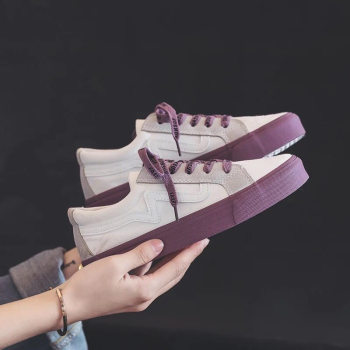2020 Fall New Women Color Matching Sneakers Flats Shoes Women Canvas Lace-up Breathable Vulcanize Shoes Casual Shoes NVX35 cozulma women candy color breathable canvas shoes lace up fashion sneakers female non slip casual shoes size 35 40