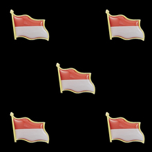 5PCS Indonesia National Flag Clothes Accessories Brooch Pin Lapel Pin Jewelry 5pcs 2019 chile national flag patriotic metal flag lapel pin brooch accessories for clothes bag hat