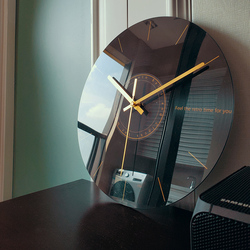 Reloj de pared silencioso sala de estar reloj de moda creativo arte minimalista moderno lujo nórdico novedad Reloj de pared diseño moderno W6