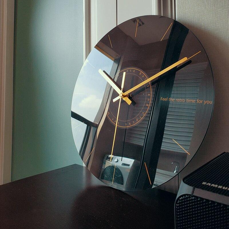 Silent Wall Clock Living Room Creative Fashion Clock Modern Minimalist Art Luxury Nordic Novelty Wall Watch Modern Design W6