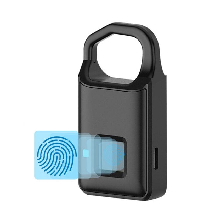 Hot Fingerprint Lock Smart Lock P4 Home Luggage Dormitory Locker Warehouse Door Waterproof Super Long Standby Electronic Padlock