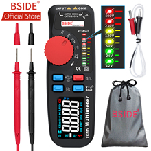 BSIDE ADM92CL Voltmeter Digital True RMS Multimeter 6000 Counts Auto Range Voltage Amp Ohm Hz Cap Temp Diode Continuity Tester