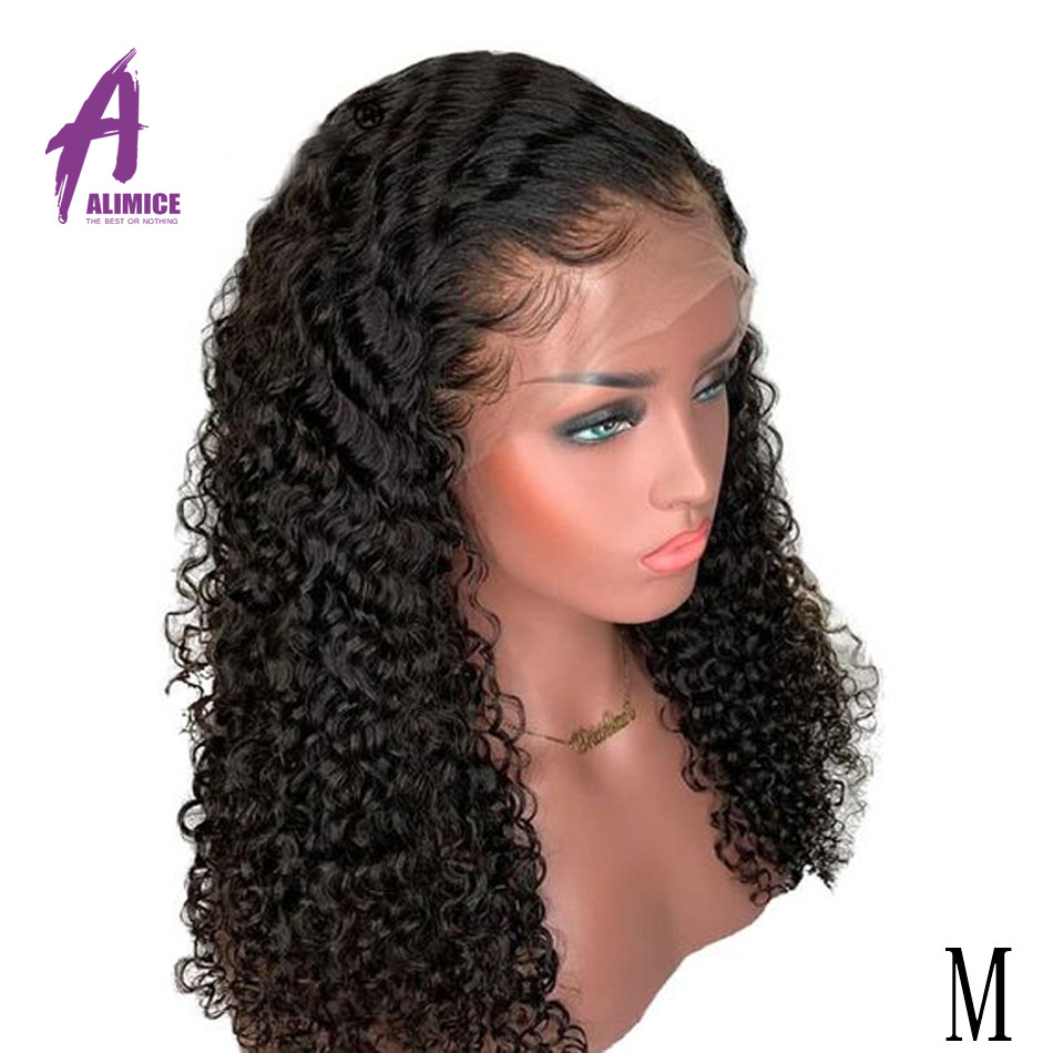 13x4 Curly Human Hair Wig Malaysian Lace Front Human Hair Wigs With Pre Plucked Baby Hair Alimice Remy Hair 8-24inch Lace Wigs