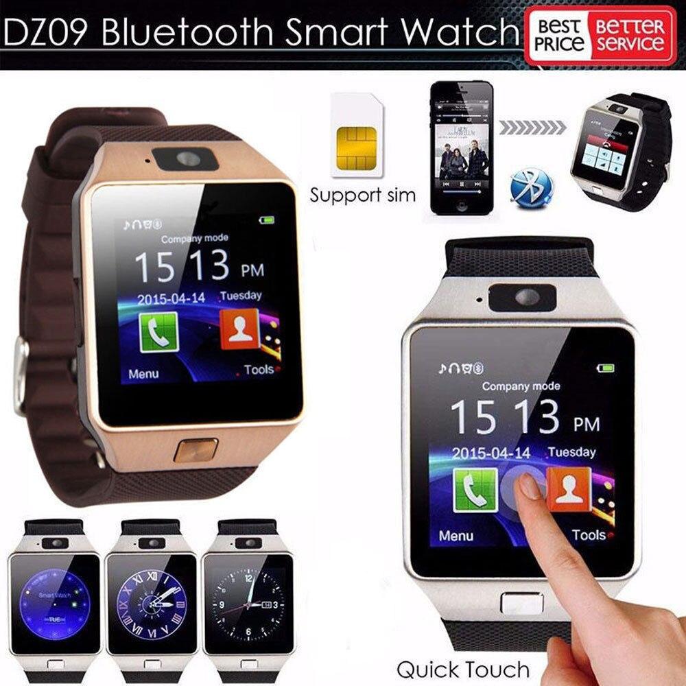 Nova DZ09 Smartwatch Relógio Inteligente relógio Digital Homens Relógio Bluetooth SIM Câmera Cartão TF Para Android inteligente relógio de Pulso Do Telefone Móvel