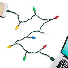 Merry Christmas Light Led Usb Cable Charger Lighting Cord for HUAWEI Xiaomi for
