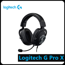 Logitech G Pro X USB Wired Blue VOICE 7.1 Surround Gaming Headset w/ MIC Computer Peripheral Accessories logitech g433 wired headphone x 7 1 surround gaming headset for pc ps4 xbox computer peripheral accessories