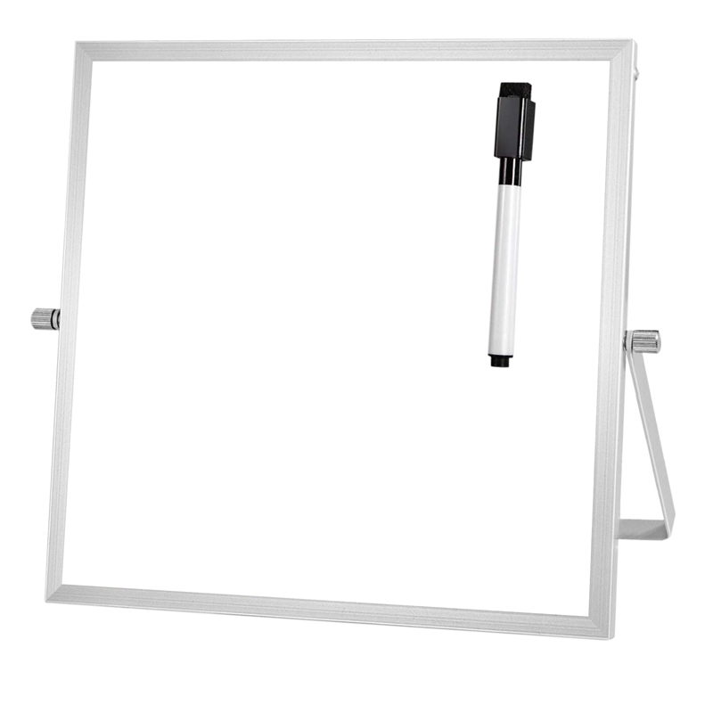 AAY-Small Dry Erase Board With Stand 10 InchX10 Inch Mini Magnetic White Board Easel For Kids Double-Sided Portable Table Top De
